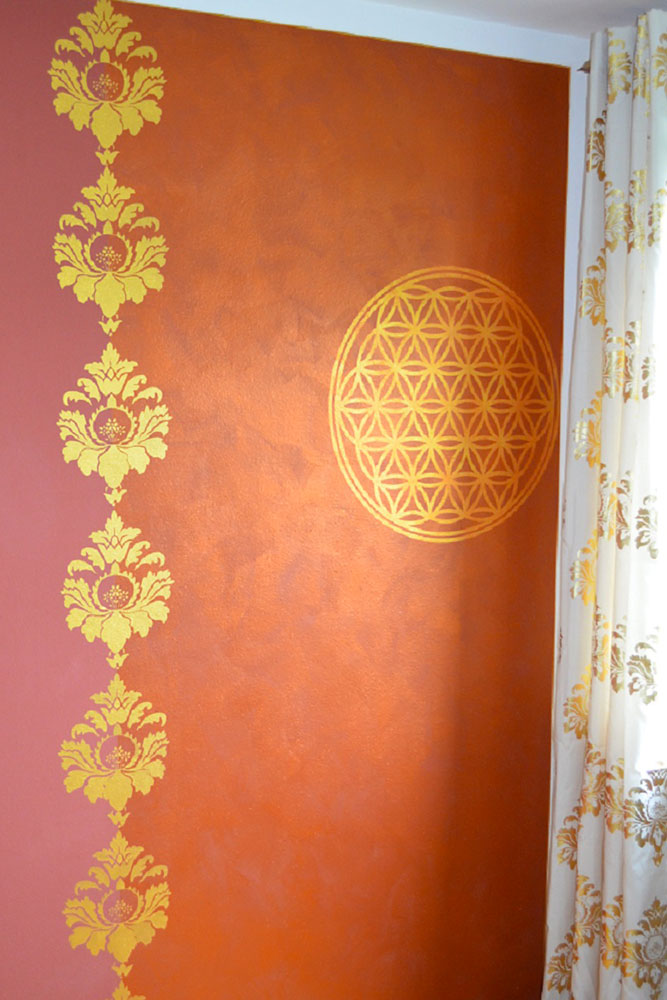 Wandgestaltung Gold
