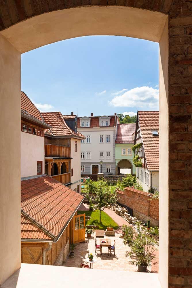 Blick den Innenhof