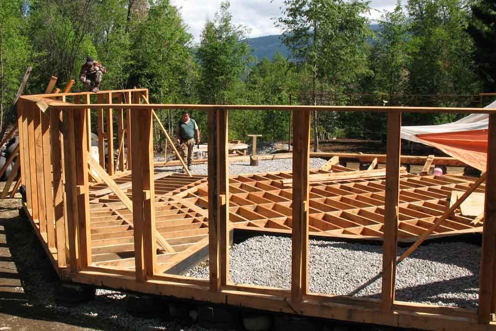 Holz-Ständer-Konstruktion