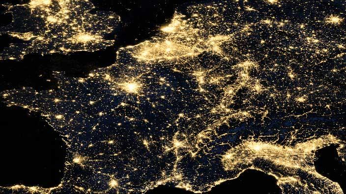 Lichtverschmutzung Russland