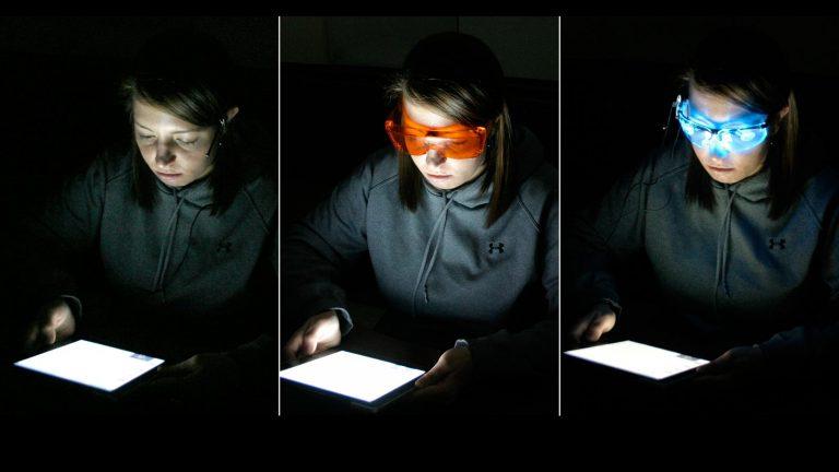 experiment blaues licht