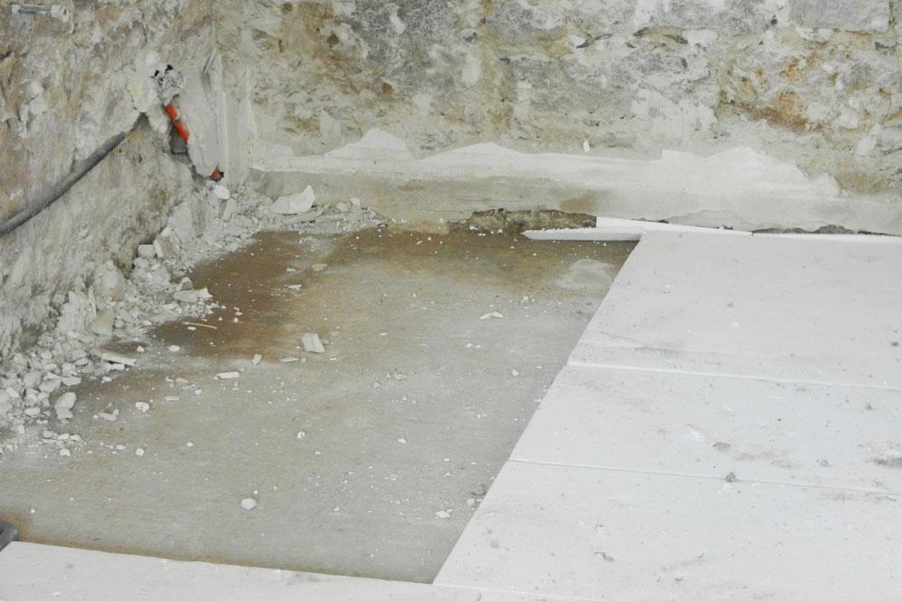nasser Betonboden