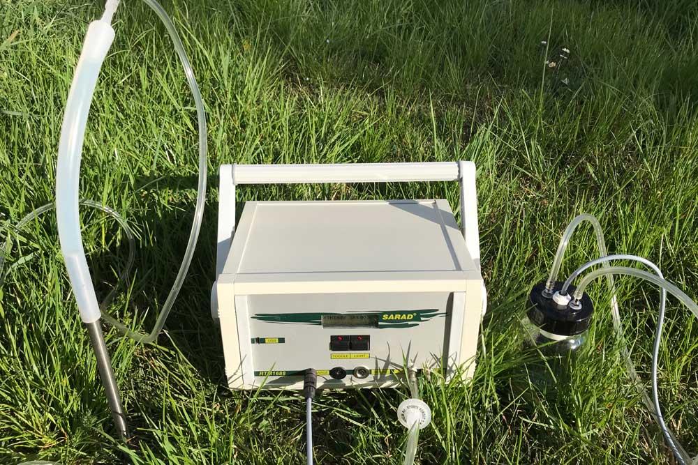 Radon-Bodenluftmessung