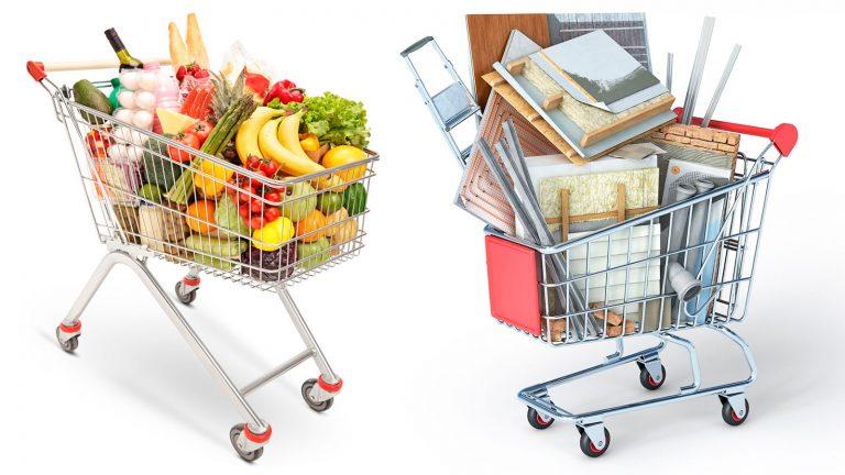 Einkaufswagen Produkte